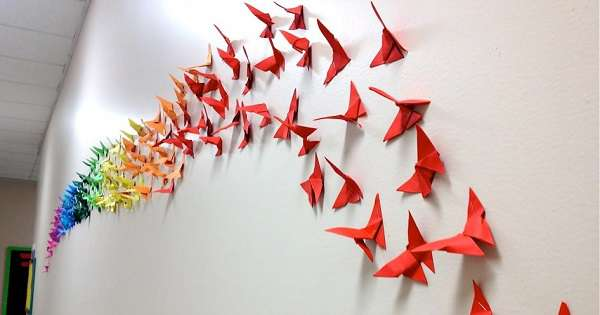 Hiasan Dinding Kamar dari Kertas