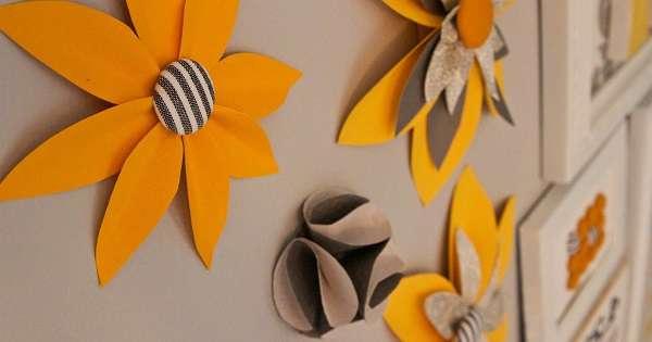 Hiasan Dinding Kamar dari Kertas Origami yang Mudah