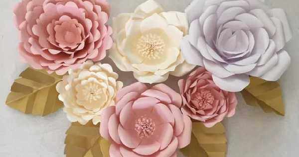 Cara membuat paper flower dari kertas karton origami jasmine manila