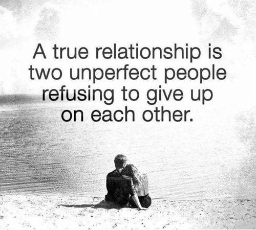 Kata kata Buat Diri Sendiri yang Tak Sempurna relasi yang sempurna dari 2 orang yang tak sempurna